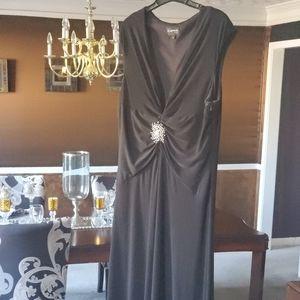 Black Evening dress with pendant
